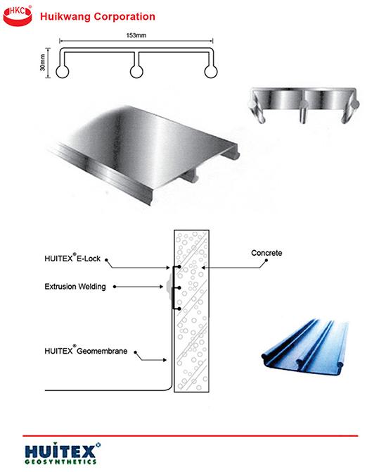 วัสดุสำหรับการเชื่อมแผ่น HDPE กับคอนกรีต